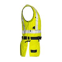 Projob Work Vest with tool pockets High Visibility Cl 2 (PRO6704)