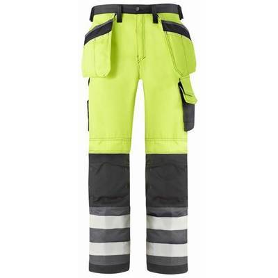 Snickers Trousers High Visibility with Holster Pock Class 2 (SNI3233)