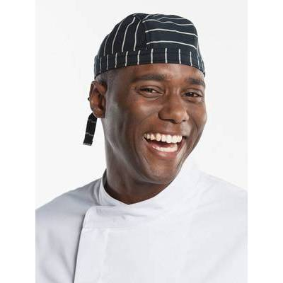 Chaud Devant Chef Hat Bandana Big Stripe (CHA313)