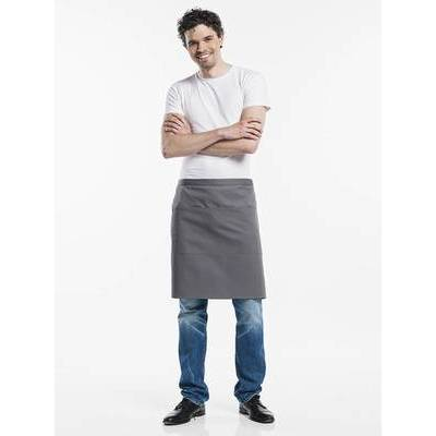 Chaud Devant Apron Grey W100-L50 with 3-pockets (CHA410-6)