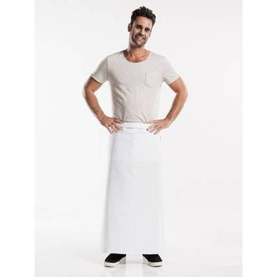 Chaud Devant Apron White W100-L100 with 3-pockets (CHA472-8)
