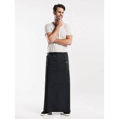 Chaud Devant Apron Black W120-L100 with pocket (CHA473-4)