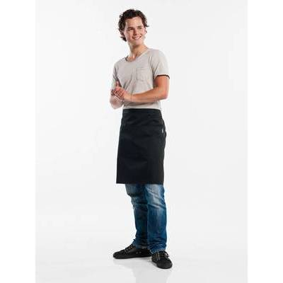 Chaud Devant Apron Black W100-L50 with 3-pockets (CHA473-6)