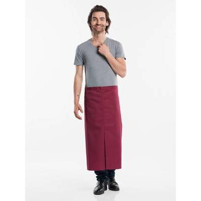 Chaud Devant Apron Burgundy W100-L80 with slit (CHA474-7)