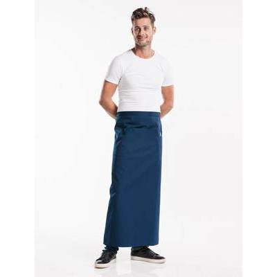 Chaud Devant Apron Navy W120-L100 with pocket (CHA475-4)