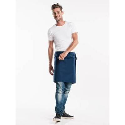 Chaud Devant Apron Navy W100-L50 with 3-pockets (CHA475-6)