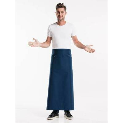 Chaud Devant Apron Navy W100-L100 with 3-pockets (CHA475-8)