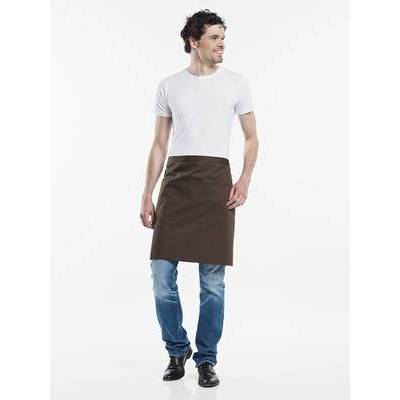 Chaud Devant Apron Brown W100-L50 with 3-pockets (CHA477-6)