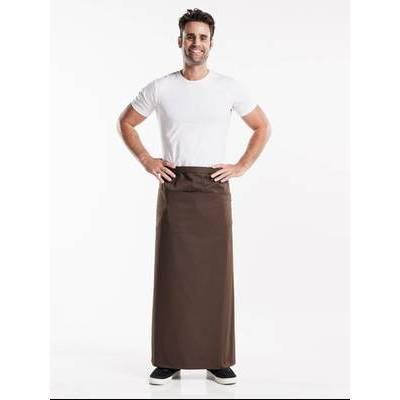 Chaud Devant Apron Brown W100-L100 with 3-pockets (CHA477-8)