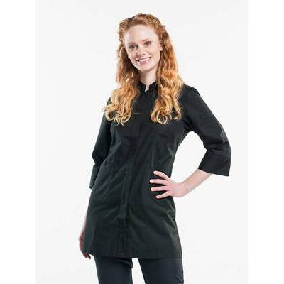 Chaud Devant Dames Serving Jacket Black Stretch (CHA617)