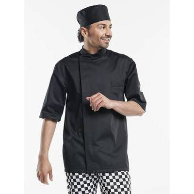Chaud Devant Chef Jacket Bacio Black Short Sleeves (CHA939)