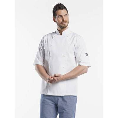 Chaud Devant Chef Jacket Hilton Poco White Short Sleeve (CHA217)