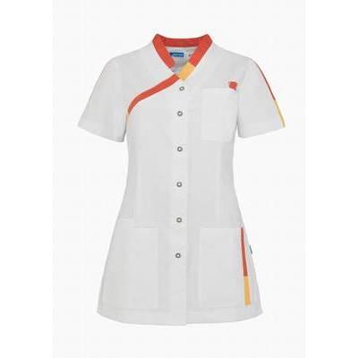 De Berkel Dames Tuniek Pleun Wit/Rood/Oranje (DEB3341326)