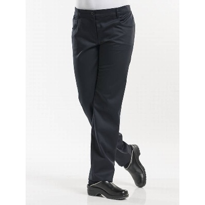 Chaud Devant Chef Pants Lady Skinny Black Stretch (CHA198)