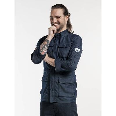 Chaud Devant Chef Jacket Parka Blue Denim Stretch (CHA286)