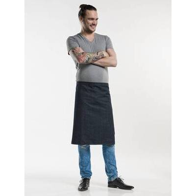 Chaud Devant Apron Plain Blue Denim (CHA486)