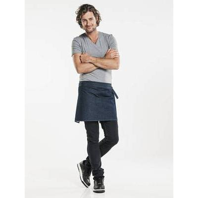 Chaud Devant Apron Plain Blue Denim (CHA489)
