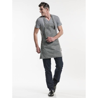 Chaud Devant Bib Apron Salopet Grey Denim (CHA512)