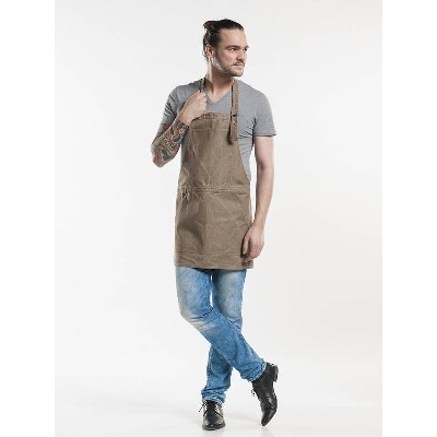 Chaud Devant Bib Apron Salopet Mud Denim (CHA695)