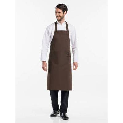 Chaud Devant Bib Apron Brown (CHA543)