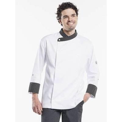 Chaud Devant Chef Jacket Ligne Noir (CHA260)