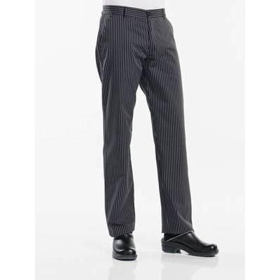Chaud Devant Chef Pants Ligne Noir (CHA159)