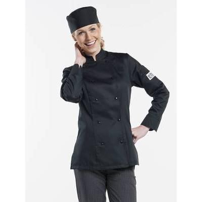 Chaud Devant Chef Jacket Lady Comfort Black (CHA228)