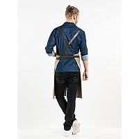 Chaud Devant BIB APRON FORENE CROSS MUD DENIM W75-L90 (CHA65299)