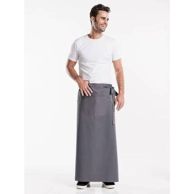 Chaud Devant Apron Grey W120-L100 with pocket (CHA410-4)