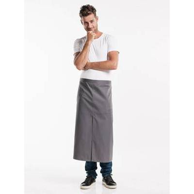 Chaud Devant Apron Grey W100-L80 with slit (CHA410-7)