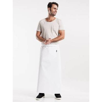 Chaud Devant Apron White W120-L100 with pocket (CHA472-4)