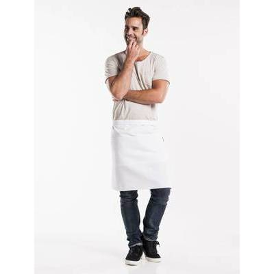 Chaud Devant Apron White W100-L50 with 3-pockets (CHA472-6)