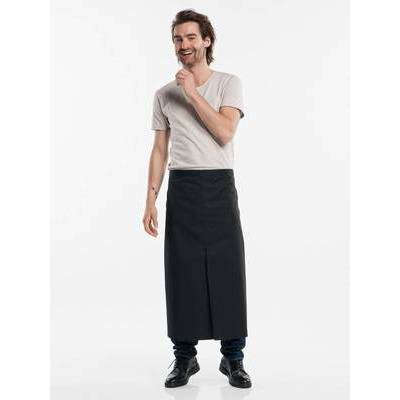 Chaud Devant Apron Black W100-L80 with slit (CHA473-7)