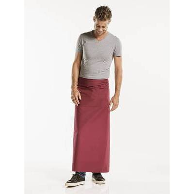 Chaud Devant Apron Burgundy W100-L100 with 3-pockets (CHA474-8)