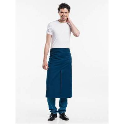 Chaud Devant Apron Navy W100-L80 with slit (CHA475-7)