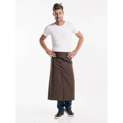 Chaud Devant Apron Brown W100-L80 with slit (CHA477-7)