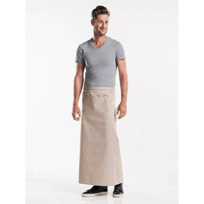 Chaud Devant Apron Sand W120-L100 with pocket (CHA478-4)