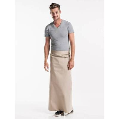 Chaud Devant Apron Sand W100-L100 with 3-pockets (CHA478-8)