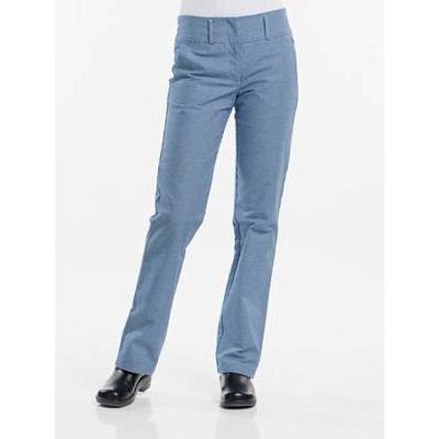 Chaud Devant Chef Pants Lady Pepita Blue (CHA190)