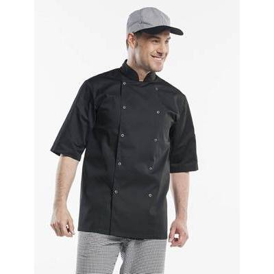 Chaud Devant Chef Jacket Hilton Poco Black Short Sleeve (CHA219)