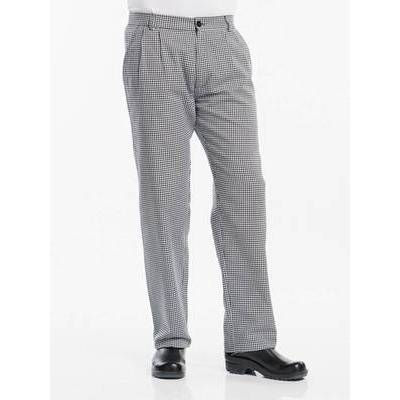 Chaud Devant Chef Pants Pepita Black (CHA127)