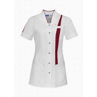 De Berkel Dames Tuniek Lara Wit/Cherry Red (DEB4302326)
