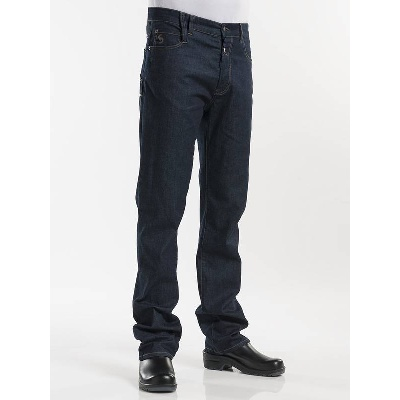 Chaud Devant Chef Pants Jeans Blue Denim Stretch (CHA196)
