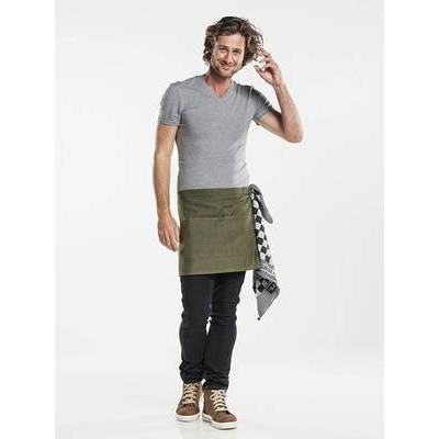 Chaud Devant Apron Base Denim Green W80 - L40 (CHA483)
