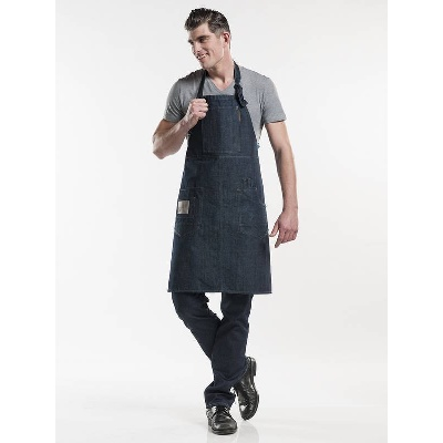 Chaud Devant Bib Apron Multipocket Blue Denim (CHA507)