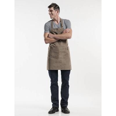 Chaud Devant Bib Apron Base Mud Denim (CHA694)