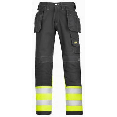 Snickers Cotton Work Trousers Hi-Vis Holster Pocket Class 1 (SNI3235)
