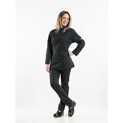 Chaud Devant Chef Jacket Lady Poco Black (CHA993)