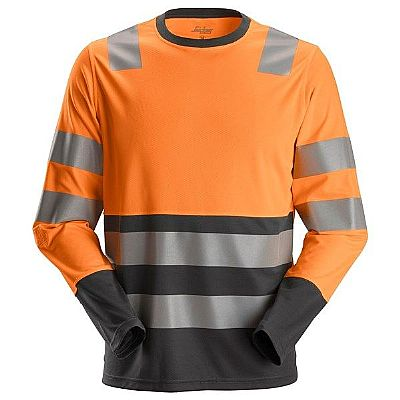 Snickers High-Vis T-shirt Long Sleeves CL2 AllroundWork (SNI2433)
