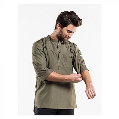Chaud Devant CHEF JACKET BUJUTSU GREEN (CHA240)